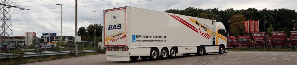 trekker oplegger rijbewijs C vrachtwagen grootl